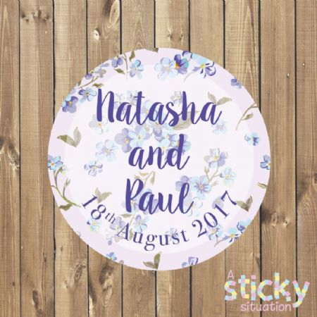 Personalised Wedding Stickers - Spring Floral Design